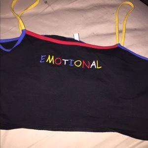 """Emotional"" tank top"